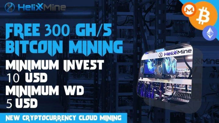 HelixxMine : New Cryptocurrency Cloud Mining 2018 (Free 300 Gh/s)