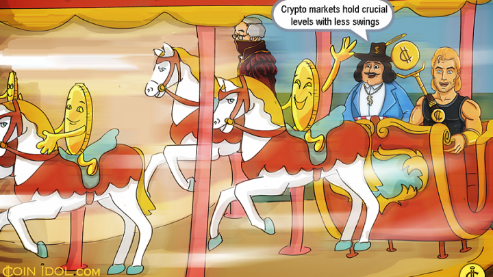Crypto Markets Hold Crucial Levels with Less Swings, BTC Trades Around $6,400, ETH at $209, XRP $0.325