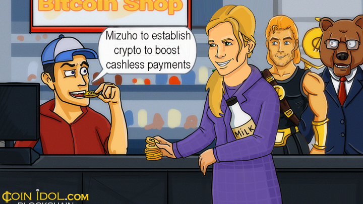 Mizuho Plans to Establish Crypto to Boost Cashless Payments in Early 2019