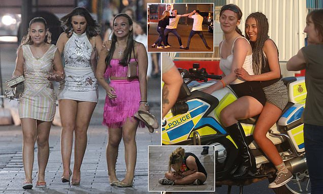 Revellers fight and frolic on fourth night in a row on Easter Sunday