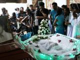 Relatives mourn eight-month-old victim of Sri Lanka terror attack