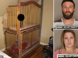 Parents arrested after toddler twin boys found locked in cages in 'drug den filled with guns'