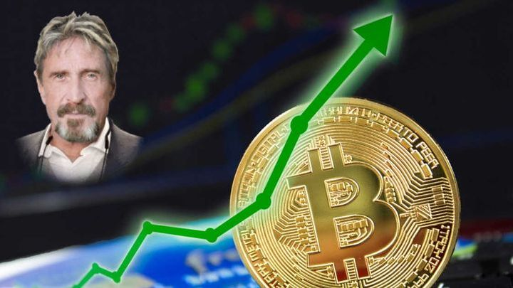 Small Win For John MCafee – Bitcoin price rally