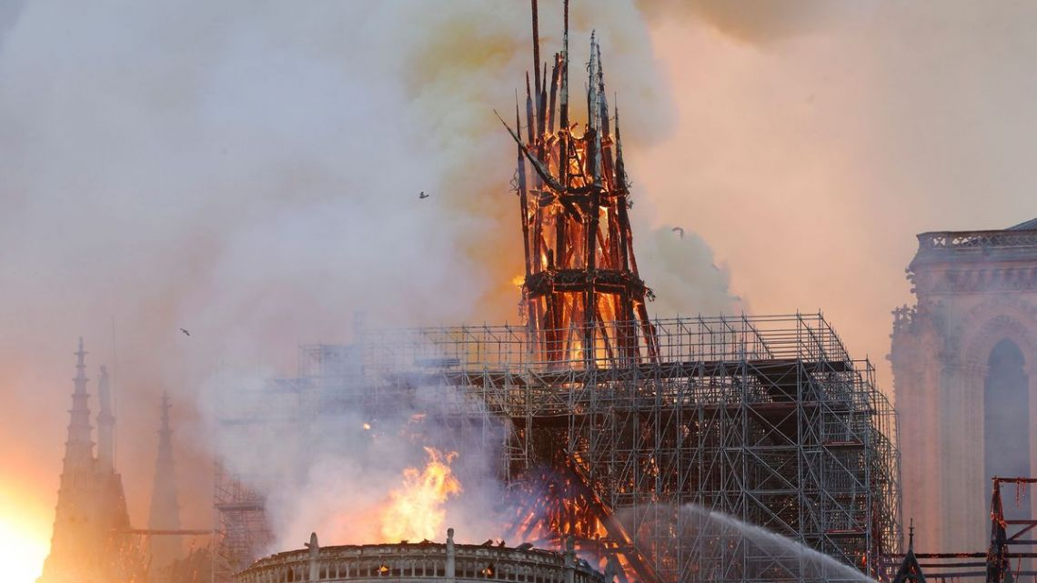 Major Fire Rips Through Notre-Dame Cathedral Roof in Paris