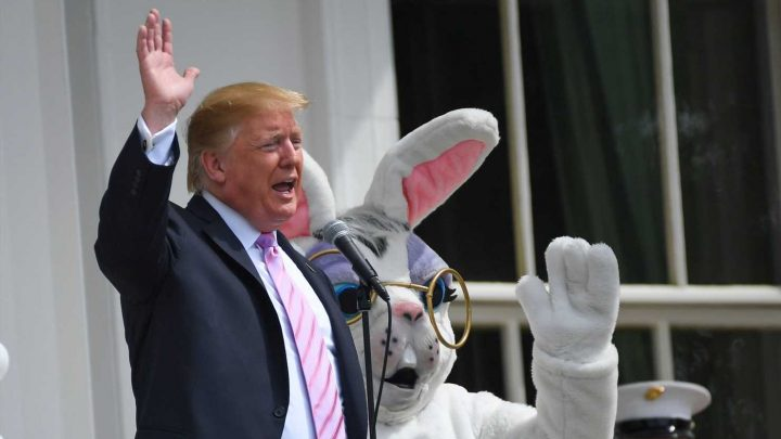 With Donald Trump's Easter Egg roll, you get some politics