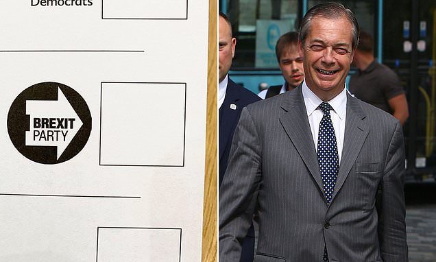 Brexit Party logo 'cleverly points voters towards Nigel Farage'