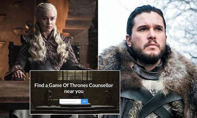 Game of Thrones fans can hire counselors to help them cope with ending