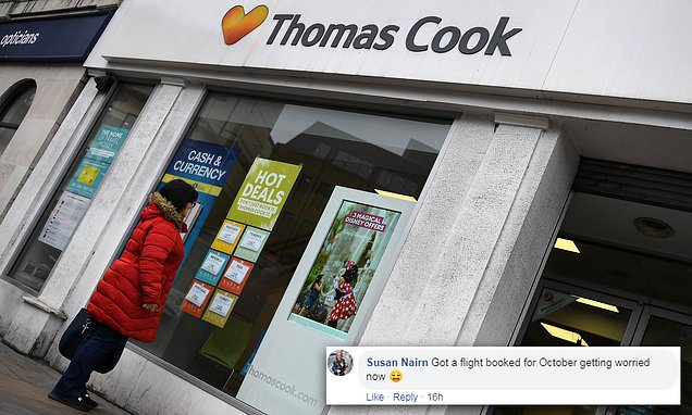'Are you going into administration?' Holidaymakers flood Thomas Cook