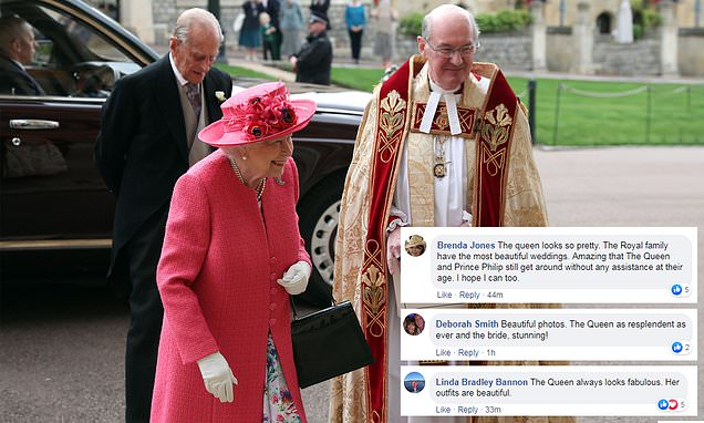 Queen wows fans with glowing appearance at Lady Gabriella's wedding