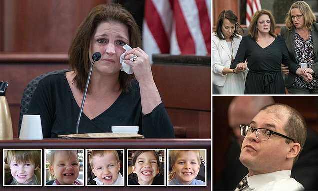 Mom cries for her five kids murdered by ex-husband as she testifies