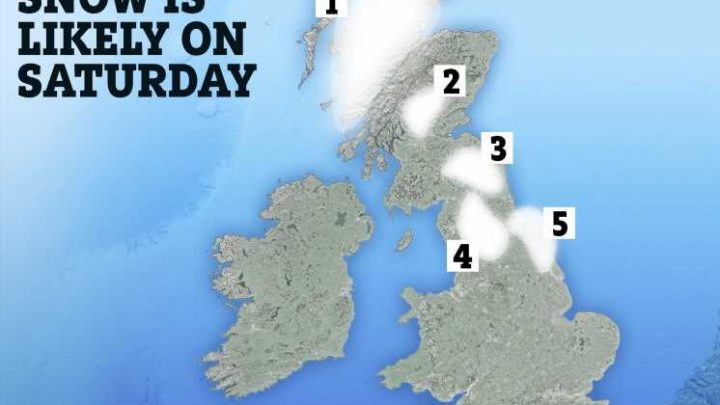 UK weather forecast – SNOW to hit on Bank Holiday – see if you will get any with our maps