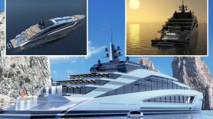This new £350million superyacht is so luxurious you can go surfing ON BOARD… and it even boasts its own waterfall