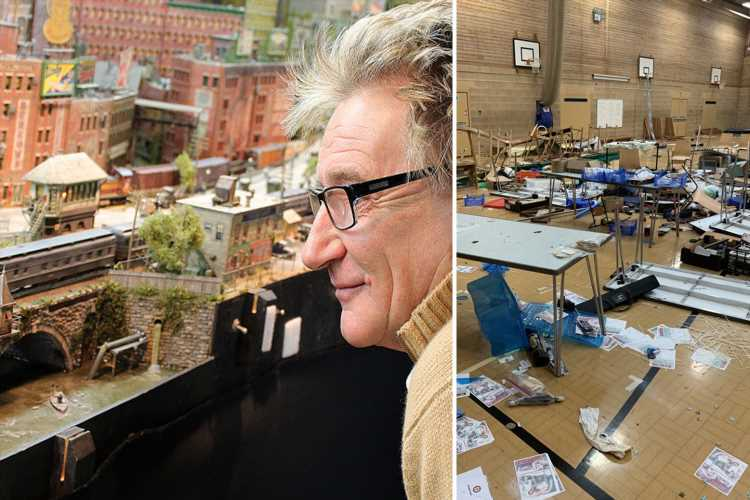 Rod Stewart donates £10k to model railway fans as £60k raised after vandals trash exhibition with hammers