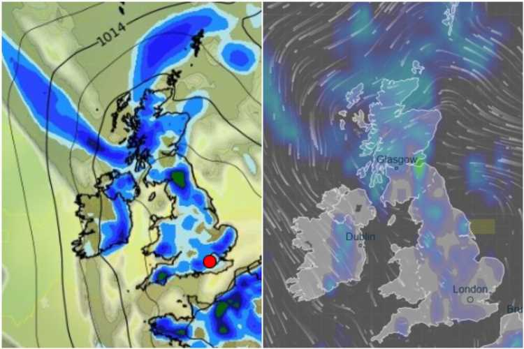 UK weather forecast – Thunderstorms and plunging temperatures in the North this weekend amid 1C misery and heavy showers
