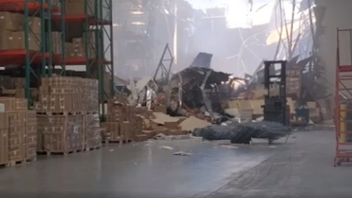 At least 3 people were injured after an F-16 fighter jet carrying munitions crashes into a Southern California warehouse