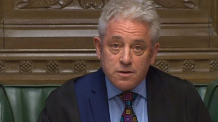 John Bercow warns Brexiteers a no-deal Brexit will be blocked after dropping plans to quit as Speaker