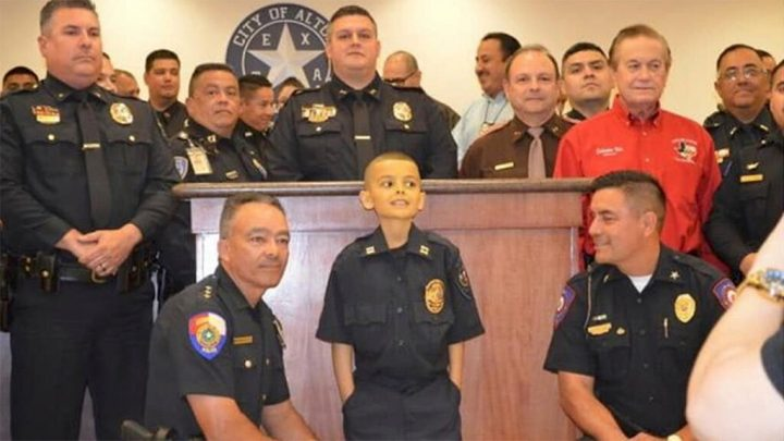 Texas police dept. names 9-year-old boy with liver cancer its honorary captain