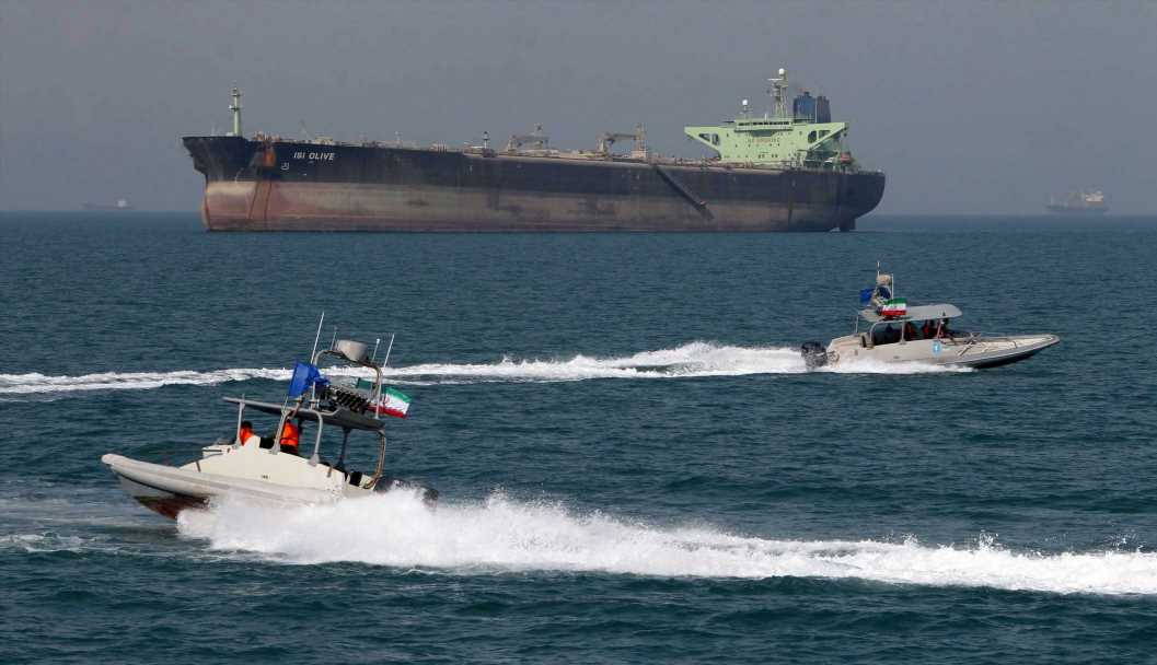 Militarized Iranian fast-boats prevented tug boats from salvaging damaged oil tanker