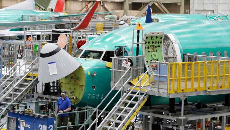 Boeing airliner deliveries falter amid 737 Max woes, falling 56% from last year