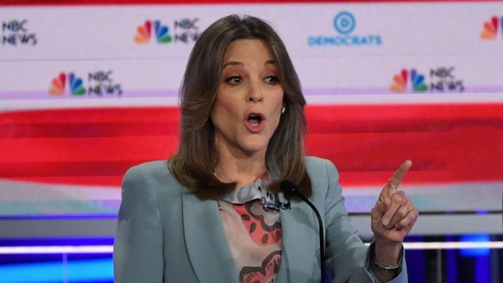 Marianne Williamson gains attention during heated Dem debate with unique performance