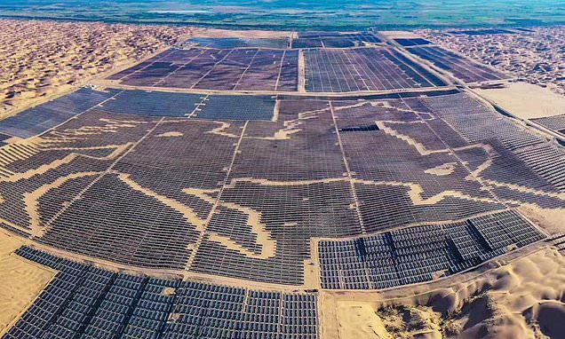 China spends £1.7bn building a solar farm that looks like a horse