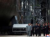 Kim Jong Un inspects new sub, wants to bolster North Korean military
