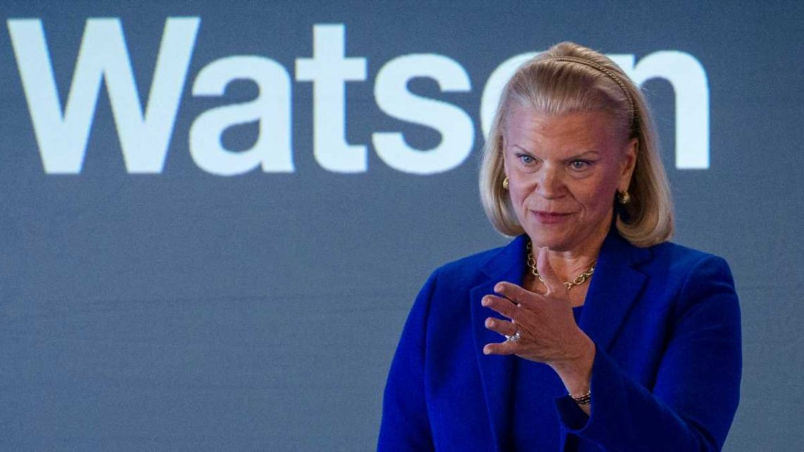 IBM shares are rising after Big Blue posted better-than-expected results. Revenue dipped, but earnings beat Wall Street estimates.