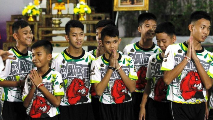 Whirlwind year for Wild Boars soccer team after rescue from flooded Thai cave