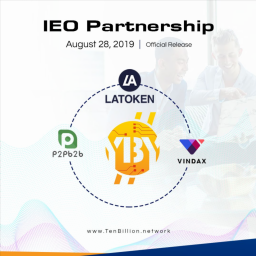 Ten Billion Coin Brings on 3rd Partnership and IEO Announcement