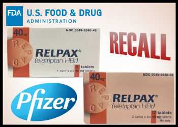 Pfizer Recalls Migraine Tablets Over Concerns Of Bacterial Infection