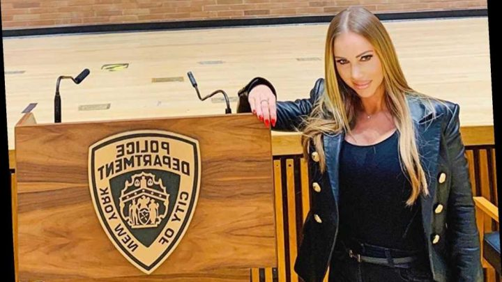 Porn star Annina Ucatis gets private tour deep inside NYPD headquarters