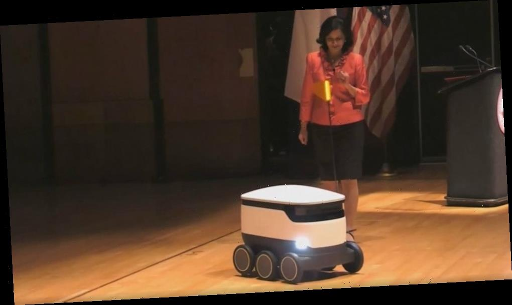 'BB8, get me a large pizza': Robots to deliver food at school