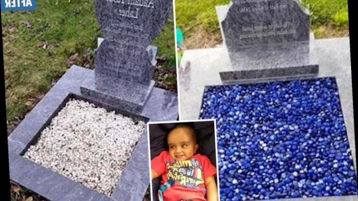 Vile thugs steal glass pebbles used to decorate 18-month-old baby's grave – The Sun