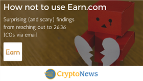How Not to Use Earn.com for Your ICO