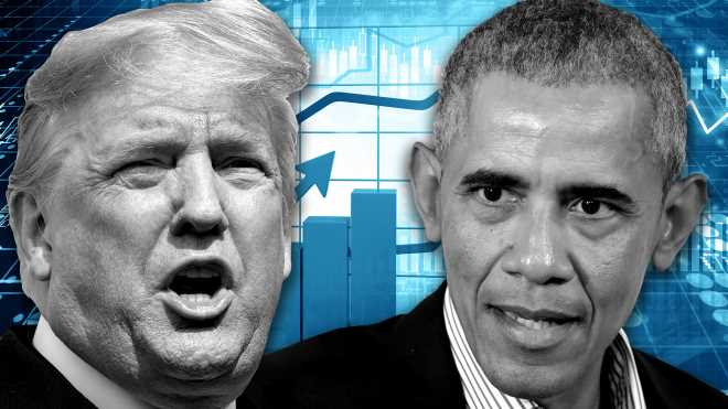Obama takes credit for the economic boom and Trump attacks him for it — here's why they're both wrong