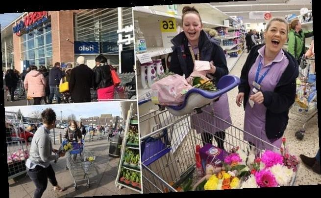 Mother's Day mayhem as hundreds of panic-buyers flock to supermarkets