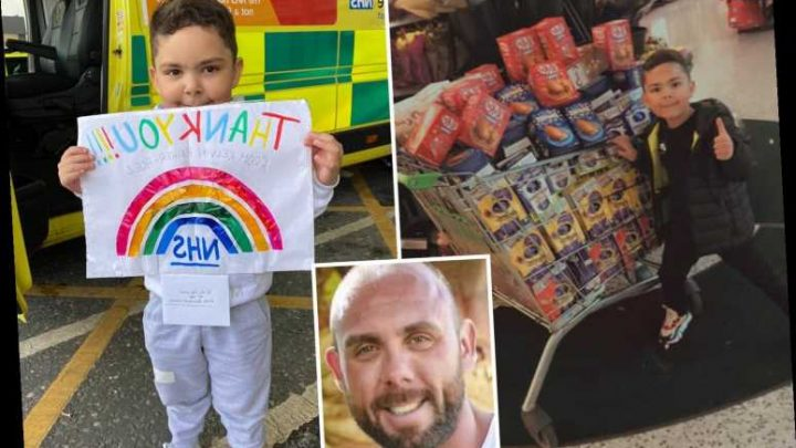Boy, 4, saves to buy 180 Easter eggs for NHS staff who helped dad before his death – The Sun