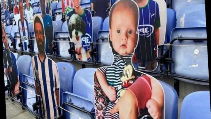 Mum's joy as baby son who died aged five months 'finally goes to his first football game' as terrace cardboard cutout