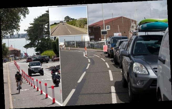 Millionaires furious as council replaces parking spaces with bike lane