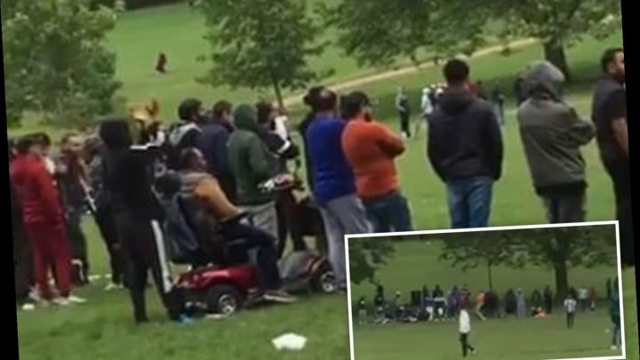 Fury as crowd watches cricket match in Leicester park next to police station just days before new lockdown