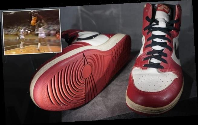 Unknown bidder forks out £468k for Michael Jordan's old Nike trainers