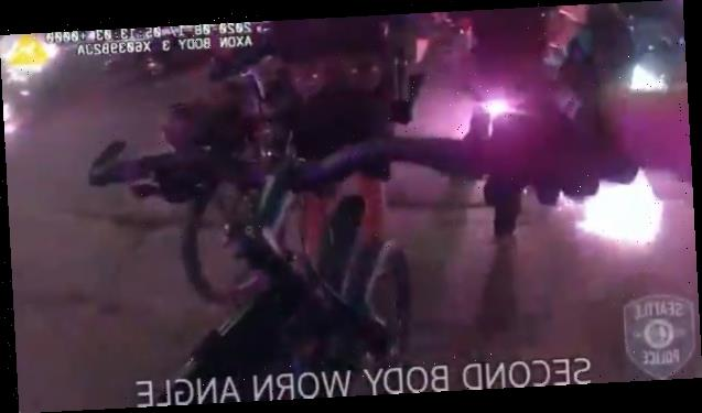 Seattle police release bodycam showing officers being injured by explosives during riots