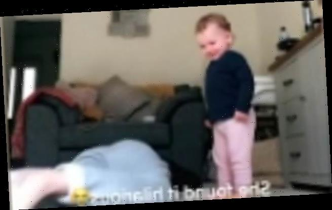 Mother stops toddler's tantrum by throwing her OWN hissy fit