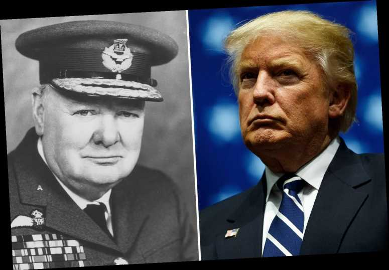 Trump compares himself to Winston Churchill after 'downplaying' threat of coronavirus to 'avoid panic'