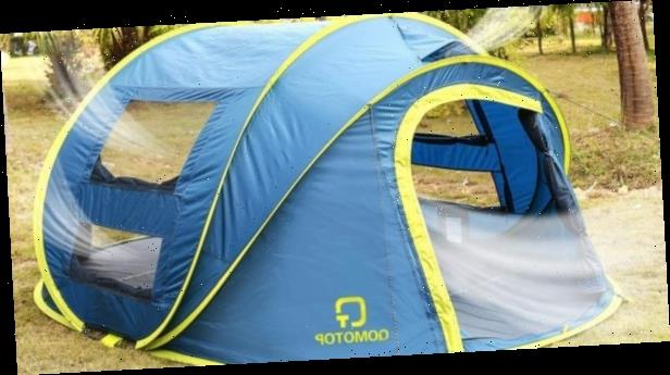Snag this pop-up tent from Amazon that you can fully assemble in just 10 seconds