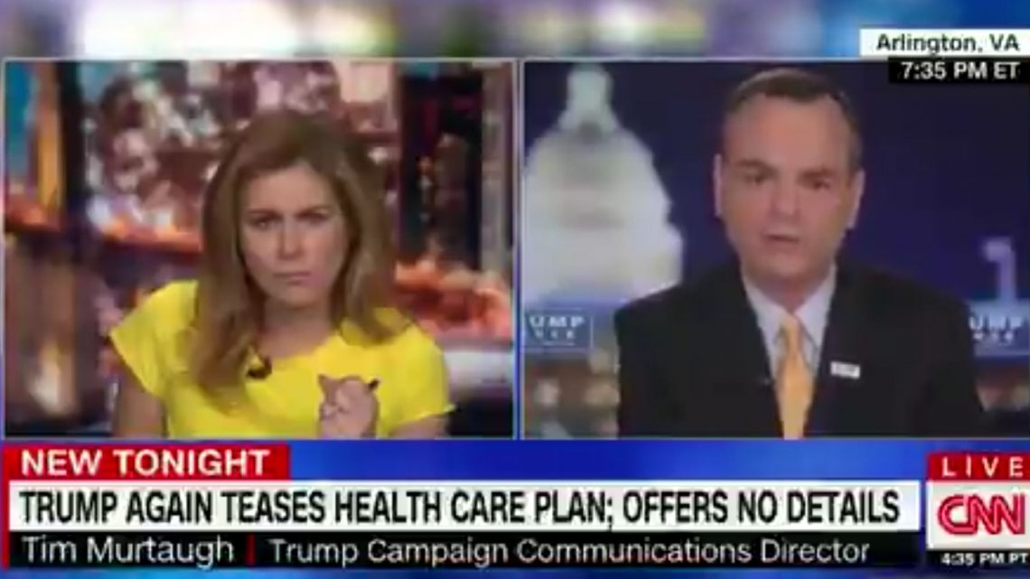 Erin Burnett Confronts Trump Campaign Aide To His Face: 'You Don't Have A Plan'