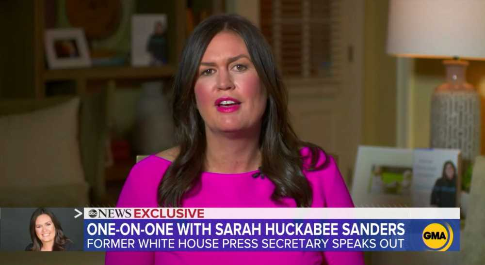 Sarah Huckabee Sanders Says 'We'll See' About Running for Governor of Arkansas in 2022
