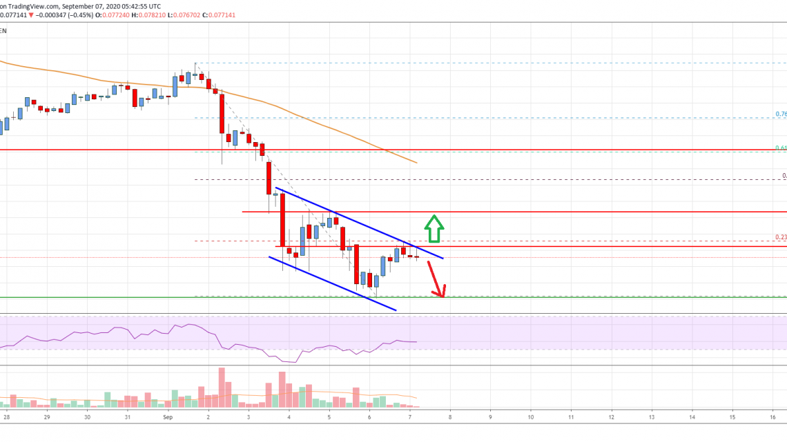 Stellar Lumen (XLM) Price Could Recover If It Breaks $0.08