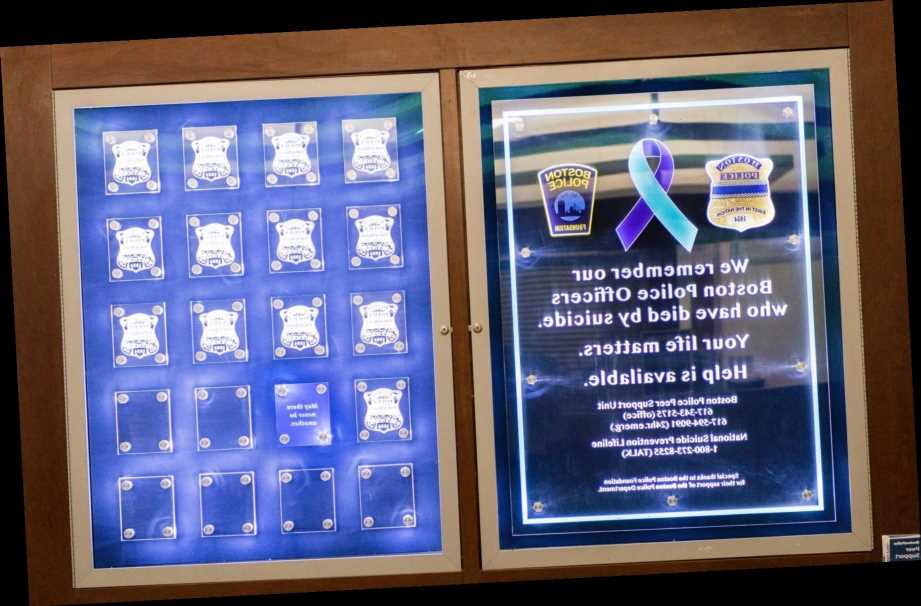 Boston police pay tribute to officers who have died from suicides