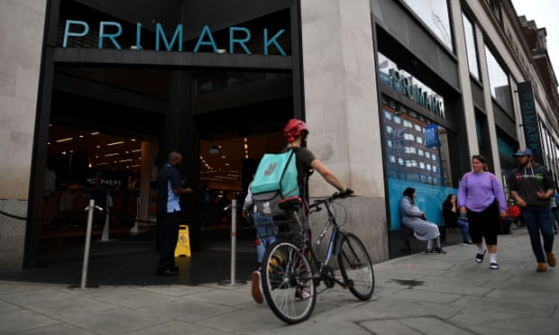 Primark says UK market share has risen after Covid lockdown